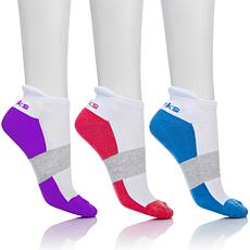 """As Is"" Tony Little Cheeks® 3-pack Cushioned Performance Sock"
