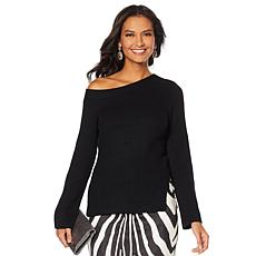 """As Is"" Vanessa Williams Off-Shoulder Knit Sweater"