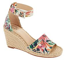 """As Is"" Vince Camuto Leera Leather Espadrille Wedge Sandal"