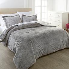 """""""As Is"""" Warm & Cozy Faux Fur 3-piece Comforter Set"""