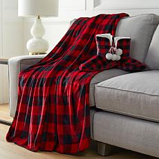 """""""As Is"""" Warm & Cozy Oversized Throw and Bootie Gift Set"""