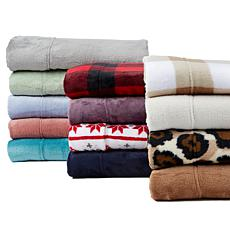 """""""As Is"""" Warm & Cozy Plush Sheet Set with Extra Pillowcases"""
