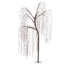 """As Is"" Winter Lane 8' White Willow Pre-Lit Tree with Timer Function"