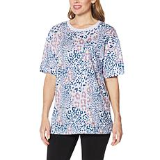 """""""As Is"""" WVVY Printed Oversized Pocket T-Shirt"""