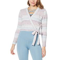 """""""As Is"""" WVVY Rainbow Wrap Sweater"""
