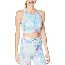 """As Is"" WVVYPower High-Neck Mesh-Inset Sports Bra"