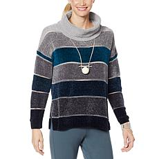 """""""As Is"""" WynneLayers Chenille Cowl-Neck Sweater"""