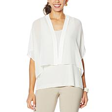 """""""As Is"""" WynneLayers Chiffon Cropped Topper"""