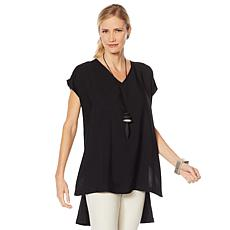 """As Is"" WynneLayers High-Low Sleeveless Malibu Tunic"