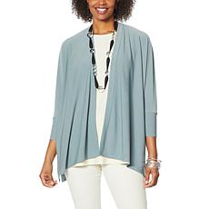 """""""As Is"""" WynneLayers Luxe Crepe Knit Unconstructed Cardigan"""