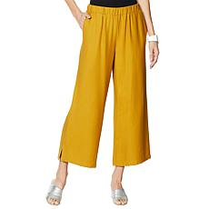 """As Is"" WynneLayers Pull-On Cropped Pant with Side Slits"