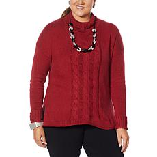 """As Is"" WynneLayers Soft Knit Mock-Neck Sweater"
