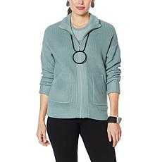 """As Is"" WynneLayers Sweater Knit Bomber Jacket"