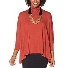 """""""As Is"""" WynneLayers Unstructured Turtleneck Poncho Top"""