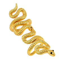 Asa Jewelry Goldtone Snake-Design Elongated Ring