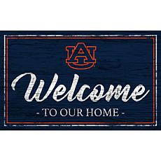 "Auburn University Team Color Welcome Sign - 11x19"""