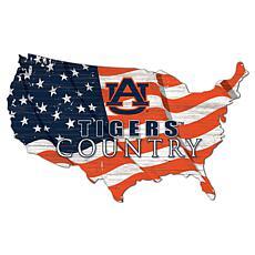 Auburn University USA Shape Flag Cutout
