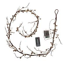 august & leo 6' Beaded LED Garland with Remote