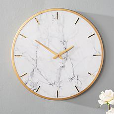 august  &  leo Giselle Faux Marble Wall Clock