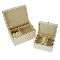 august & leo Set of 2 Jewelry Boxes with Tassels