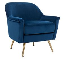 august & leo Sophie Luxe Velvet Arm Chair by Safavieh