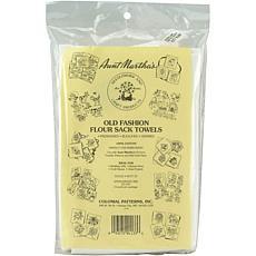Aunt Martha's Stitch 'Em Up Flour Sack Towels 33X38 2/Pkg - White