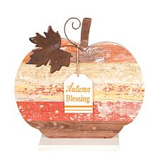Autumn Blessing Pumpkin Figure