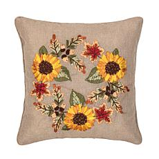 Autumn Wreath Ribbon Pillow