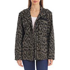 Avec Les Filles Cotton Cargo Jacket - Olive Zebra