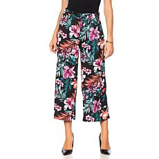 B Collection by Bobeau Printed Cropped Palazzo Pant - Plus