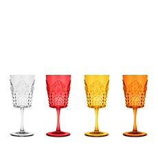 Baci Milano Baroque & Rock Set of 4 Wine Glasses