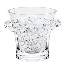 Badash Chelsea European Mouth Blown Lead-Free Crystal Ice Bucket 7x7""