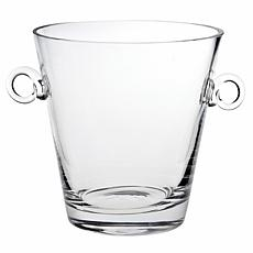 "Badash Manhattan Mouth-Blown Lead-Free 8"" Crystal Ice Bucket/Cooler"