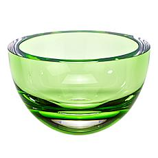 "Badash Penelope Spring Green Mouth-Blown Lead-Free Crystal 6"" Bowl"