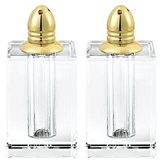 Badash Spirit Gold Lead-Free Crystal Salt & Pepper Shakers