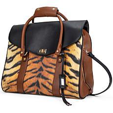 Badgley Mischka Tiger Vegan Leather Travel Tote Weekender Bag