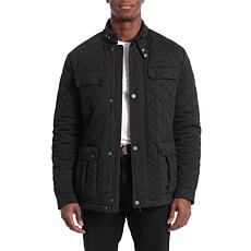 Bagatelle Sport Men's Water-Resistant Quilted Barn Jacket - Charcoal