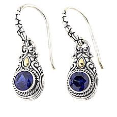 Bali Designs 1.52ctw Created Blue Sapphire Earrings