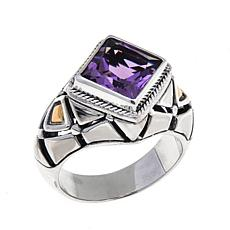 Bali Designs 2.02ct Amethyst Princess-Cut Ring