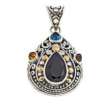 Bali Designs 3.96ctw  Black Spinel and Multigemstone Pendant