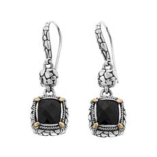 Bali Designs 4.4ctw Black Onyx Drop Earrings