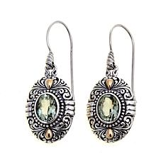 Bali Designs 4ctw Oval Prasiolite Drop Earrings