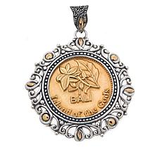 Bali Designs 500 Rupiah Coin Sterling Silver Pendant