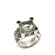 Bali Designs 5.5ctw Prasiolite and Chrome Diopside Ring