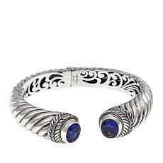 Bali Designs 7.72ctw Created Sapphire Cuff
