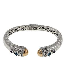 Bali Designs Acintya Swiss Blue Topaz Gem Bracelet