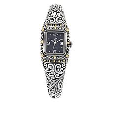 Bali Designs Black Mother-of-Pearl Dial Cuff Watch