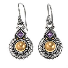 Bali Designs by Robert Manse 0.22ct Amethyst Drop Earrings