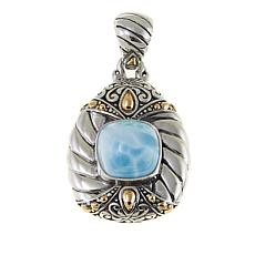 Bali Designs by Robert Manse Larimar Sterling Silver Cable Pendant