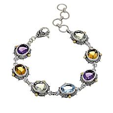 Bali Designs by Robert Manse Multi-Gemstone Line Bracelet